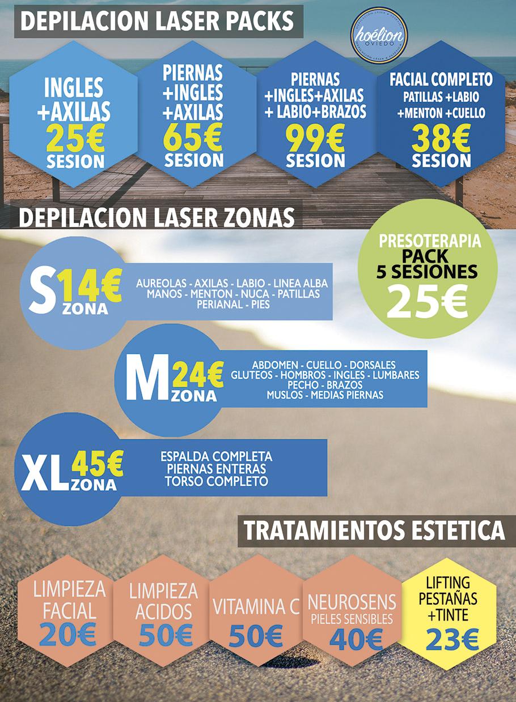 precios y tarifas hoelion depilacion laser oviedo